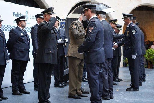 La Policia Local de Palma homenatja els seus agents en la 'diada' de la institució