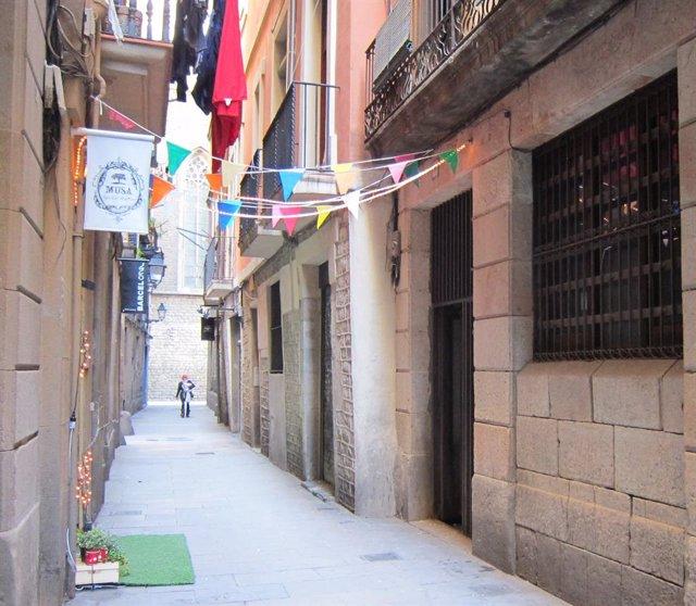 Calle del Barrio Del Born en Barcelona