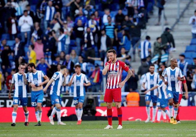 Fútbol/Liga Santander.- Crónica del Espanyol - Atlético de Madrid, 3-0