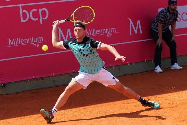 El tenista español Alejandro Davidovich, en el torneo de Estoril.