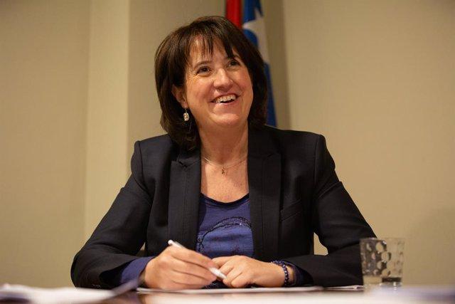 Retratos de la presidenta de la Asamblea Nacional Catalana (ANC), Elisenda Paluzie