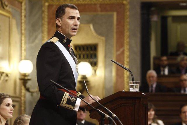 Proclamación de Felipe VI en el Congreso