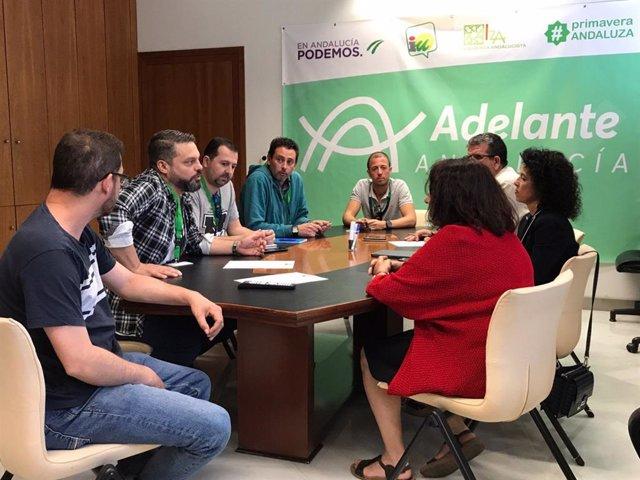 Sevilla.- Adelante Andalucía apoya las reivindicaciones de los trabajadores del Metro