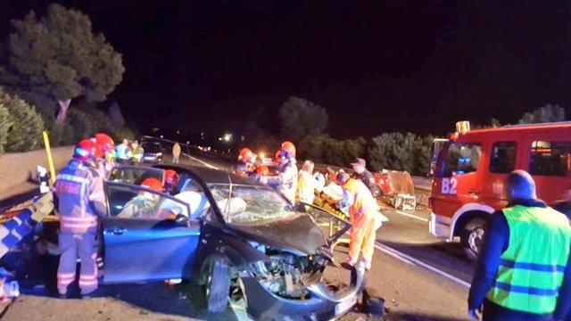 Castellón.- Sucesos.- Seis heridos en un accidente entre dos vehículos en la N340 a su paso por Castelló