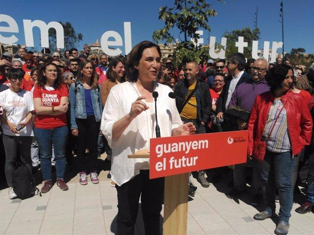 """26M.- Colau Reivindica La seva Obra De Govern I Presenta La Nova Campanya: """"Guanyem El Futur"""""""