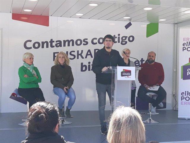 """28A.- Elkarrekin Podemos Cree Posible Que """"En Muchos Municipios Den Los Números Para Gobiernos De Izquierdas"""""""