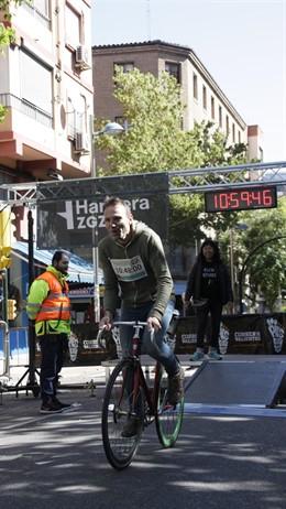 Zaragoza.- Más de 70 ciclistas recuperan la subida de la 'Cuesta Morón' en la I Cronoescalada Popular de #ZgzIsBike