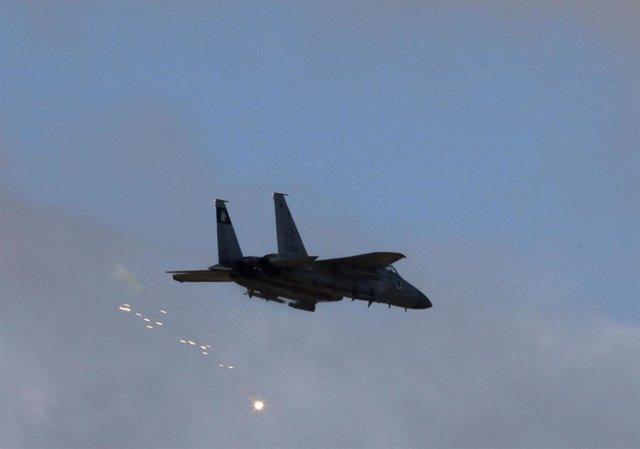 Caza F-15 israelí sobre la Franja de Gaza