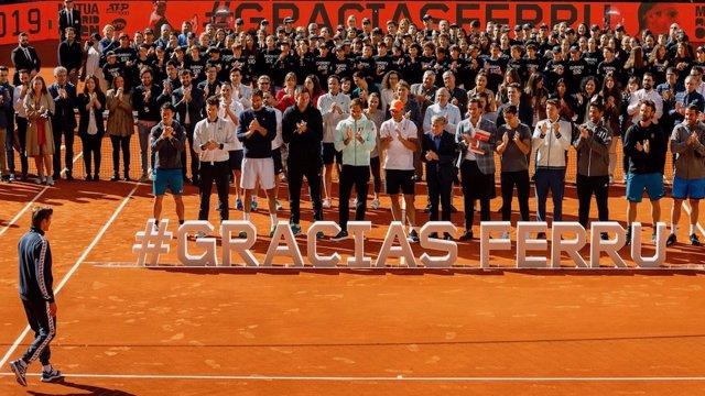 Tenis/Madrid.- Federer, Thiem, Del Potro y Nishikori ensalzan la figura de David Ferrer