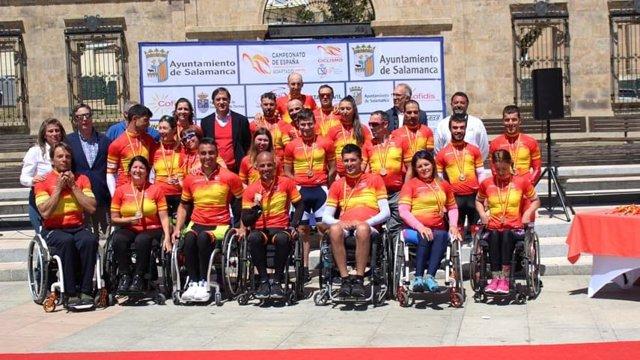 Ciclismo.- Garrote y Berchesi ponen con tres oros el broche al Campeonato de España de ciclismo adaptado en carretera