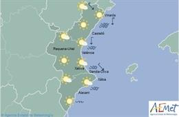 La semana comienza con cielos poco nubosos y máximas de hasta 24º en la Comunitat Valenciana