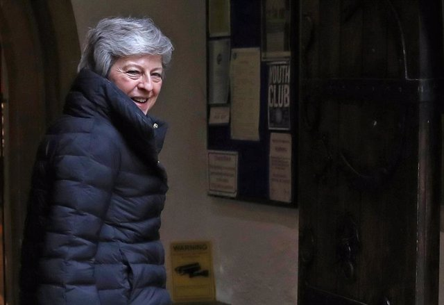 Theresa May attends Church Service in Maidenhead