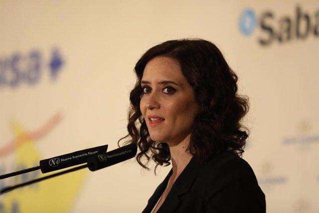 Esmorzo Informatiu amb la intervenció de Pablo Casado i la candidata del PP a la Presidència de la Comunitat de Madrid, Isabel Díaz Ayuso