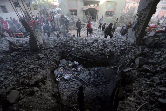 Bombardeos israelíes sobre Gaza