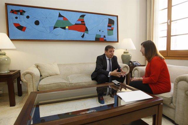 Reunió de la presidenta del Govern, Francina Armengol, amb el ministre d'Agricultura, Pesca i Alimentació, Luis Planas, a Palma de Mallorca