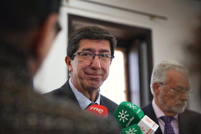 """S.Santa.- Marín pide """"luchar"""" por la """"calidad"""" del empleo de esta semana y valora la promoción de Andalucía como destino"""