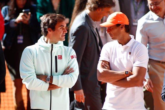 Homenaje al tenista David Ferrer en el Mutua Madrid Open 2019