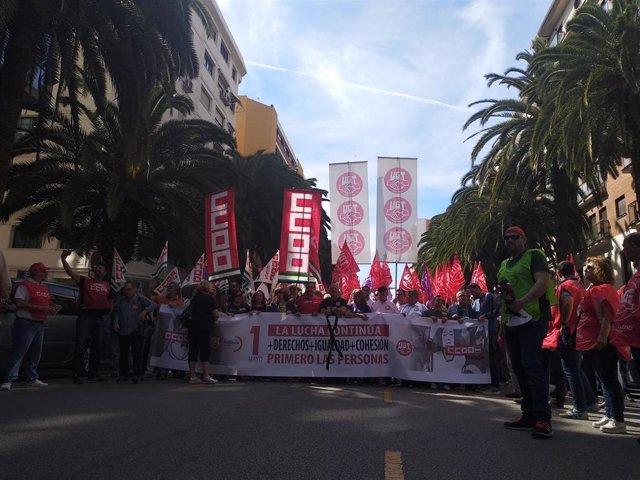 """Málaga.- Málaga sale a la calle este 1 de mayo para pedir """"más derechos, igualdad y cohesión"""""""