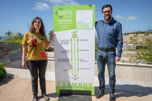 MÉS per Palma proposa un Trambus que connecti el centre amb l'Aeroport i l'Arenal cada 7 minuts