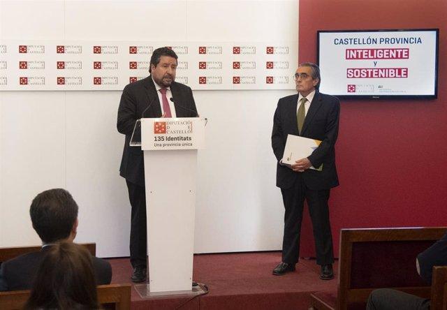 Castellón.- La Diputación e Iberdrola se comprometen a implantar un modelo energético sostenible y descarbonizado