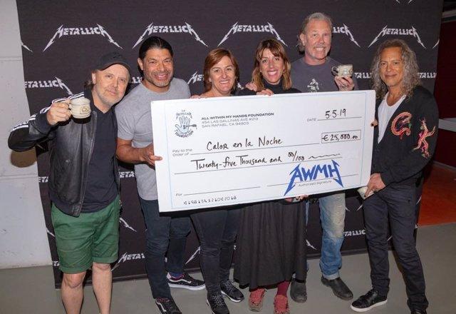 Metallica dona parte de la recaudación de su concierto en Barcelona a Calor en la Noche