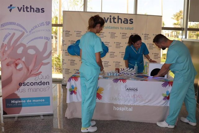 Málaga.- Vithas traslada a la población la importancia de la higiene de manos para evitar infecciones