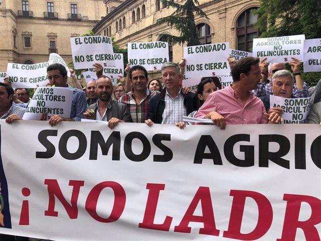 Huelva.- Agricultores del Condado reclaman ante la CHG la inclusión del trasvase de 15 hectómetros cúbicos en los PGE
