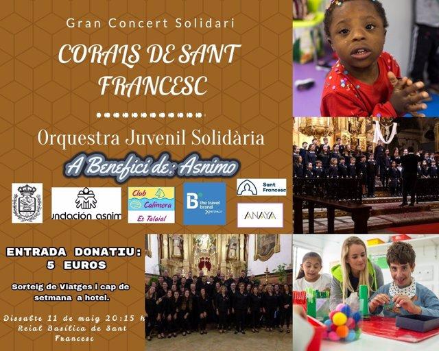 El tenor Joan Lainez participa este sábado en un concierto benéfico junto a las corales del colegio Sant Fransesc
