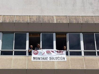 Encierro de delegados sindicales en PSA Vigo por la sobrecarga en montaje
