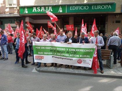 CCOO y UGT reclaman que todos los trabajadores del campo de Ciudad Real cobren al menos el SMI