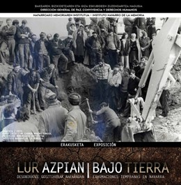 La exposición 'Bajo Tierra' sobre las exhumaciones tempranas comienza en Berriozar su recorrido por Navarra
