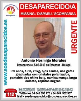 Málaga.- Sucesos.- Buscan a un hombre de 69 años desaparecido este domingo en Estepona