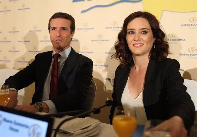 Desayuno Informativo con la intervención de Pablo Casado y la candidata del PP a la Presidencia de la Comunidad de Madrid, Isabel Díaz Ayuso