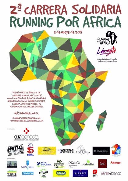 La 2ª edición de la carrera solidaria 'Running por África' tendrá lugar el próximo sábado desde el colegio Paula Montal