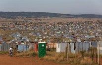 Un asentamiento informal en Sudáfrica