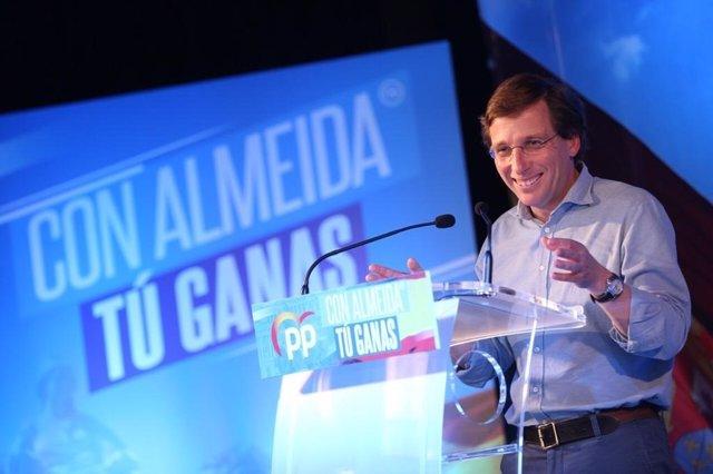 """VÍDEO: Almeida tacha de """"inaceptable"""" la campaña de #LaJuntaNoMeDeja que ha lanzado Más Madrid en Twitter"""