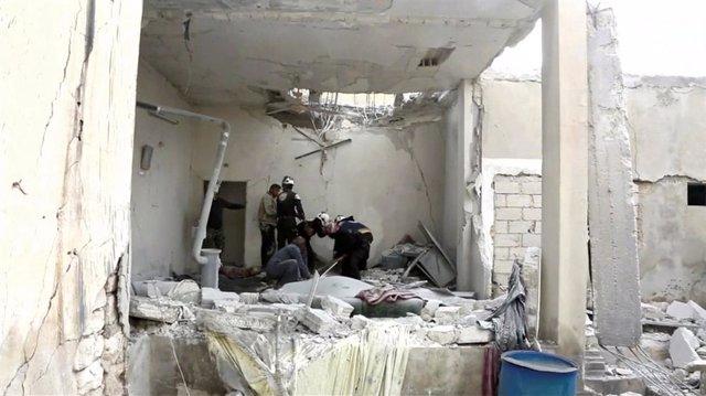 Siria.- Cerca de una veintena de muertos en el tercer día de ofensiva sobre el último bastión rebelde de Siria