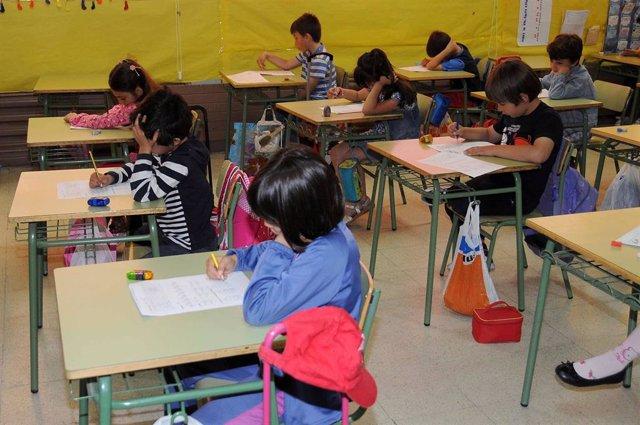 Niños, Examen, Alumnos, Primaria