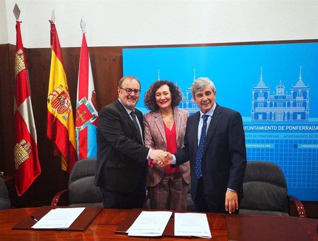 ULE, Junta de Castilla y León y Ayuntamiento de Ponferrada acuerdan la creación de un Colegio Mayor en dos años