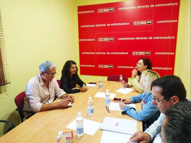 """26M.- Podemos Y CCOO Coinciden En La Necesidad De Trabajar Por Un Empleo """"Digno Y De Calidad"""" En Extremadura"""