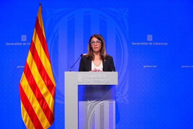 Rueda de prensa de la consellera Meritxell Budó tras el Consell Executiu del Govern de la Generalitat de Catalunya