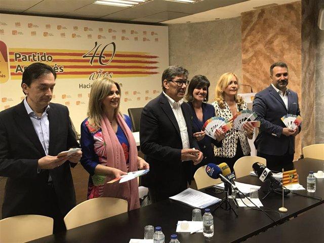 """26M.- Zaragoza.- El PAR Presenta Un Programa Electoral """"Ilusionante Para Resetear Y Recuperar Una Zaragoza Todo Color"""""""