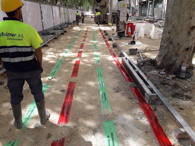 Completada la demolición del pavimento de un tramo de 2.800 m2 de Alfonso X