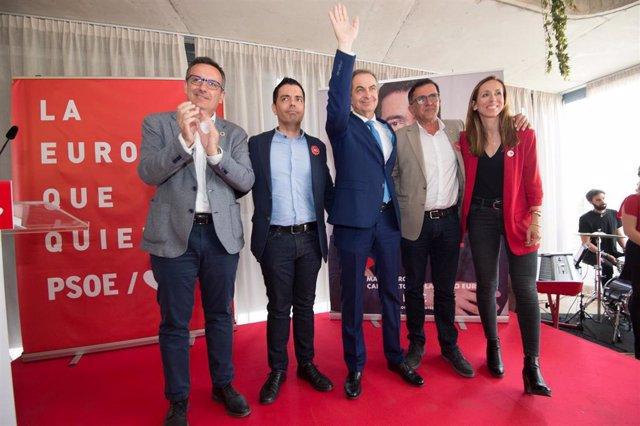 Presentación en Murcia del candidato socialista al Parlamento Europeo, Marcos Ros