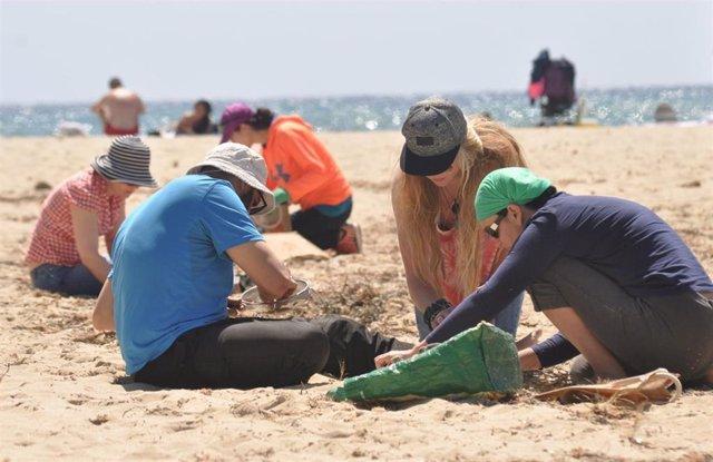 Voluntarios de Save The Med recogen en un día 4 quilos de plásticos, tapones de botellas y colillas en Cala Domingo