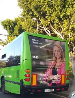 26M.- La Junta Electoral Ordena La Retirada De La Publicidad De Sí Podemos Canarias De Las Guaguas De Titsa