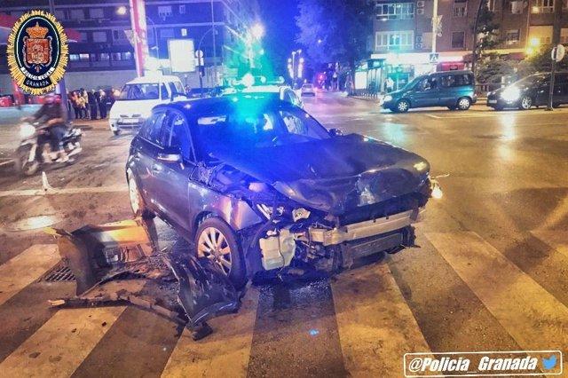 Granada.- Sucesos.- Investigado un conductor acusado de fugarse tras causar un accidente en la capital