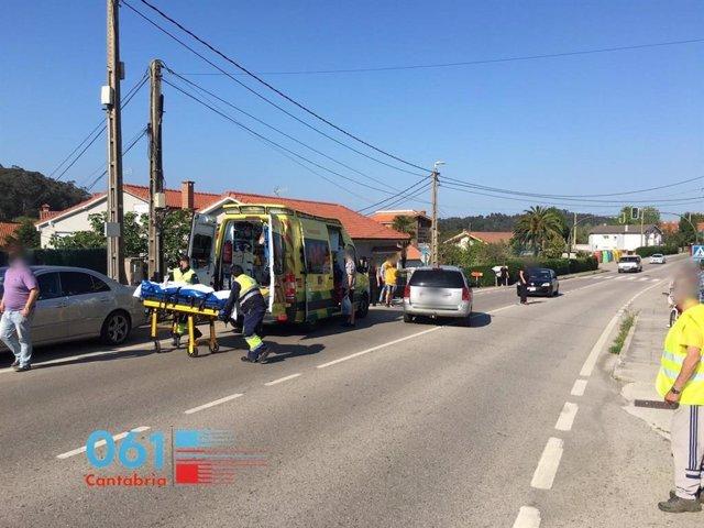 Evacuado a urgencias un ciclista de 17 años atropellado en Pontejos