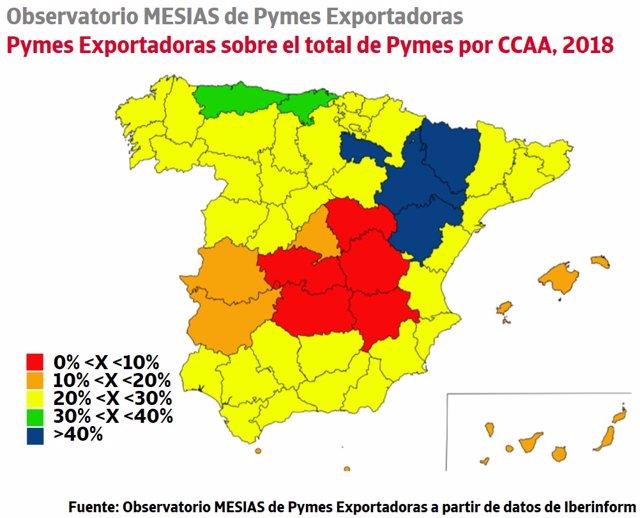 El 18% de las pymes de Baleares presenta actividad exportadora, según el Observatorio Mesias