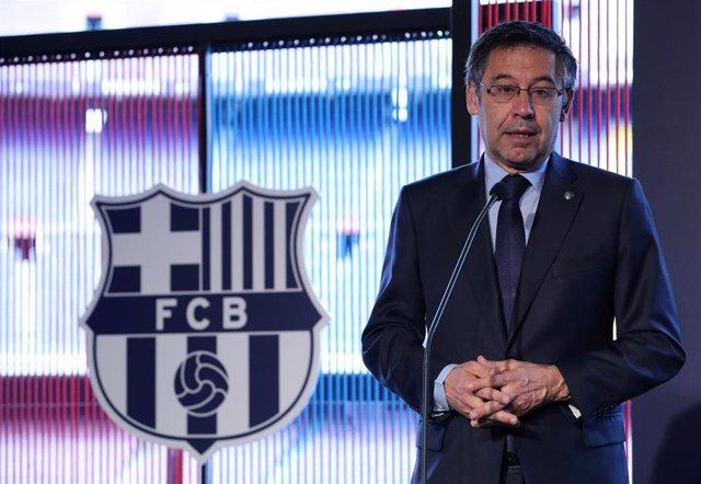 """Fútbol.- Bartomeu: """"Estamos satisfechos de que el club haga tan bien las cosas muchos años seguidos"""""""